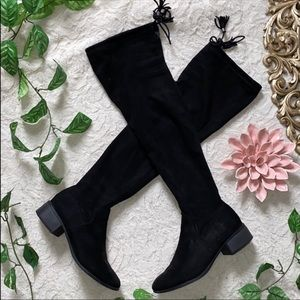Madden Girl thigh high faux Suede Boots size 9